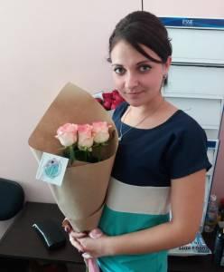 "Роза нежно-розовая ""Джамилия"" 80 см."