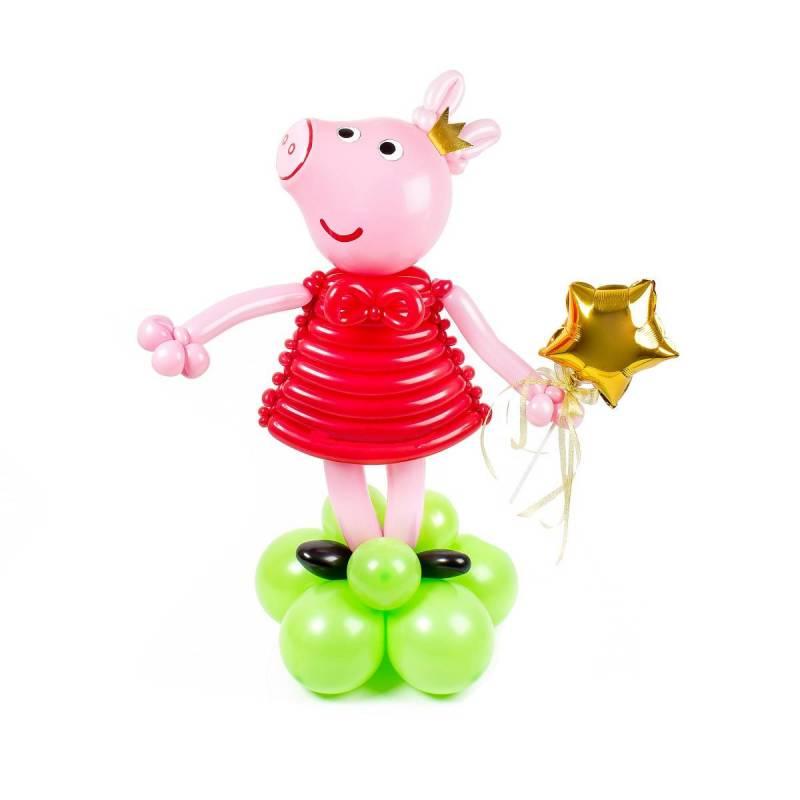 "Фигура из шаров ""Свинка Пеппа"""