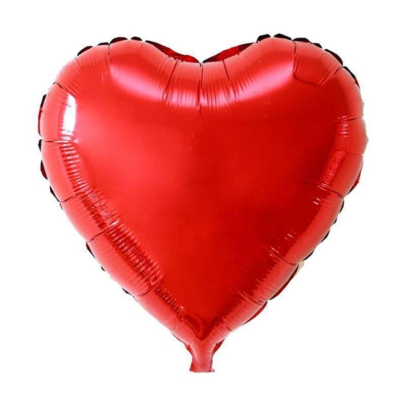 Шар из фольги « Сердце красное» (большое) 73 см.