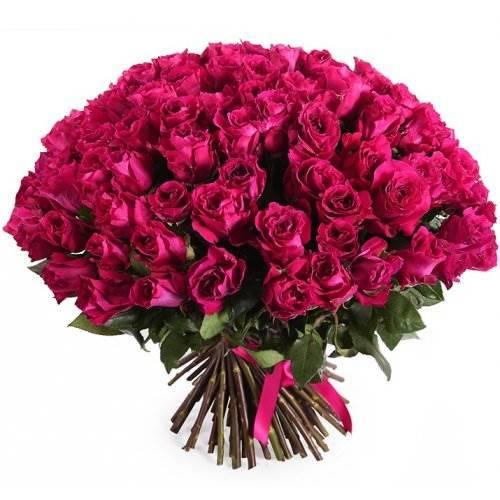 "101 роза ""Малиновая"""