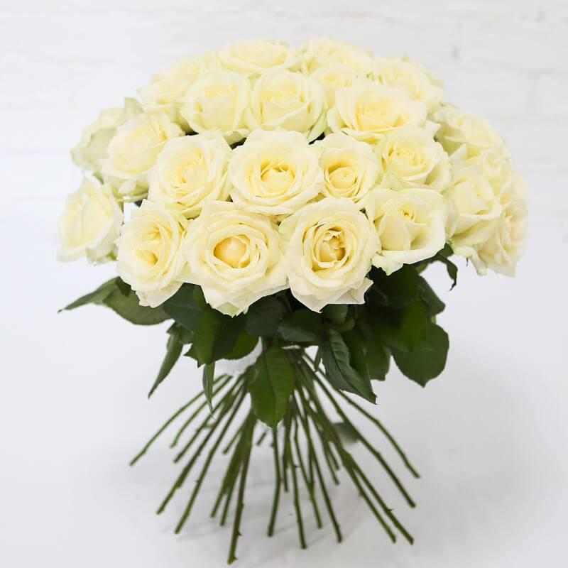 Букет из 25 белых роз.