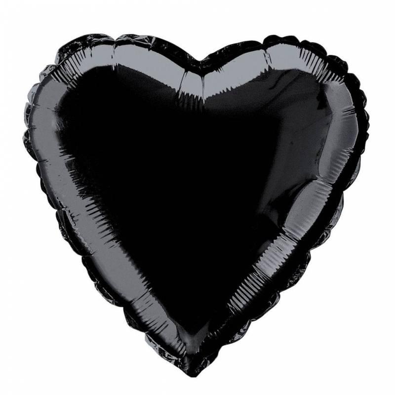 Шар из фольги «Черное сердце»