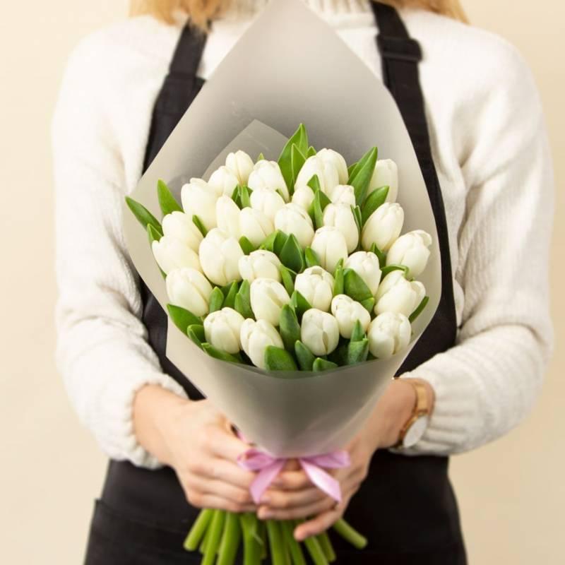 31 белый тюльпан