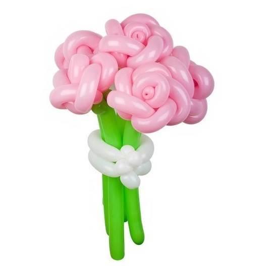 """Цветы из шаров """"Розовые розы"""""""