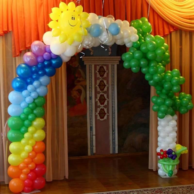 Арка для оформления входа в детском саду