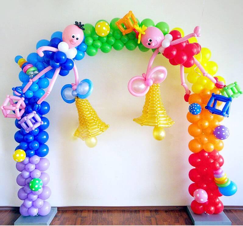 Арка из шаров для детского праздника