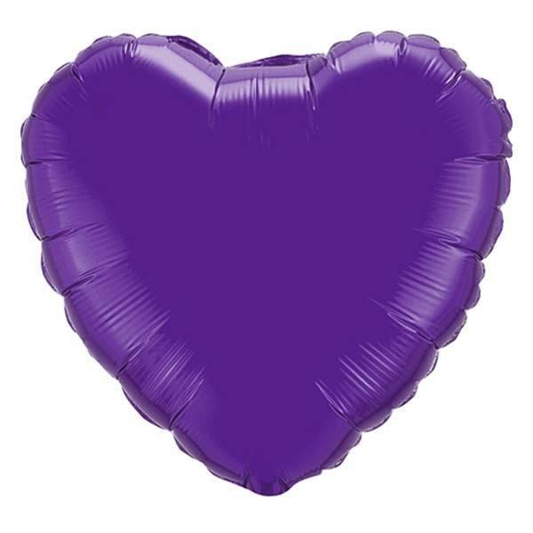 Шар из фольги «Фиолетовое сердце»