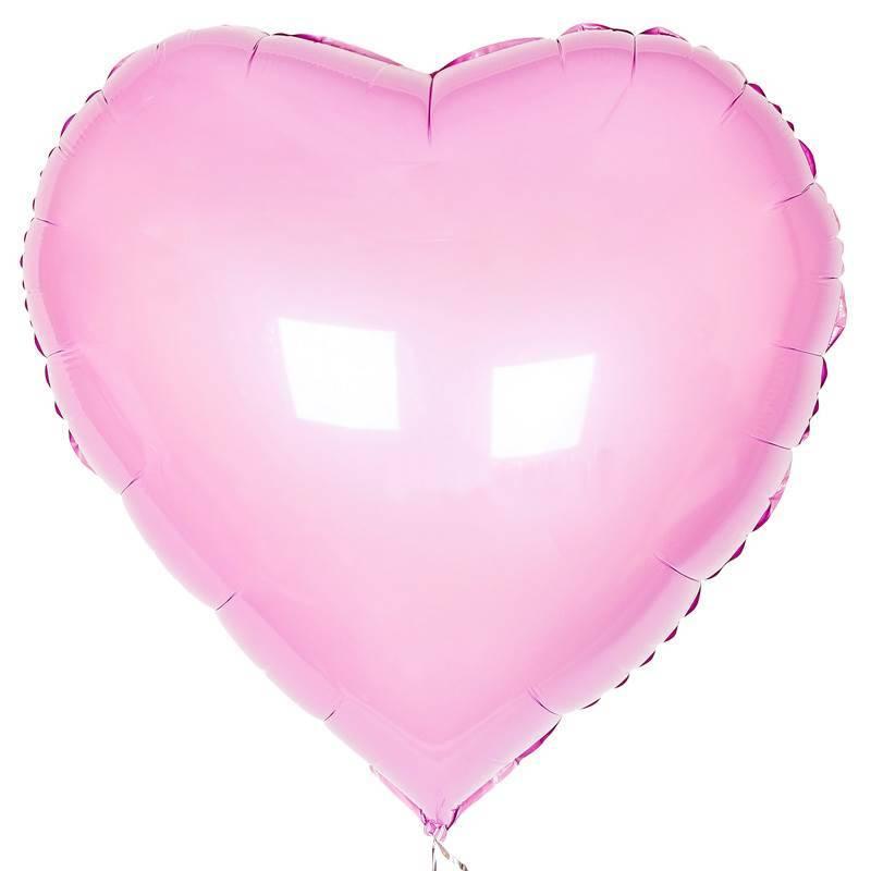 Шар из фольги «Розовое сердце»