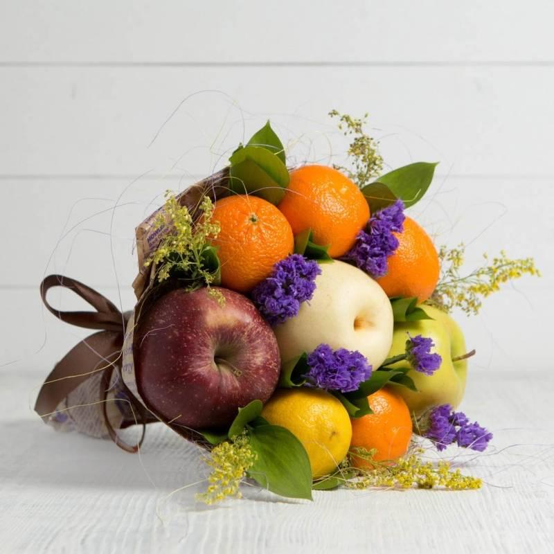 """Букет из фруктов и цветов """"Глинтвейн"""""""