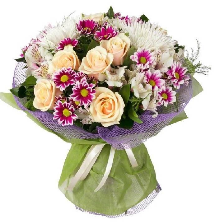Букете, дешевые букеты из роз и хризантем