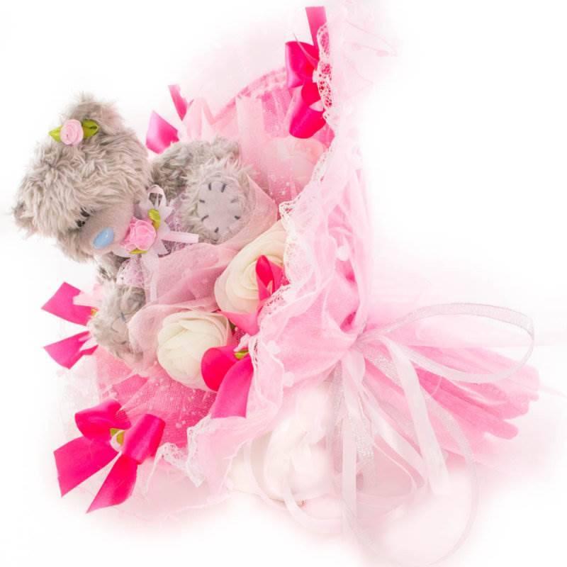 """Букет из игрушек  """"Me to you"""" розовый"""