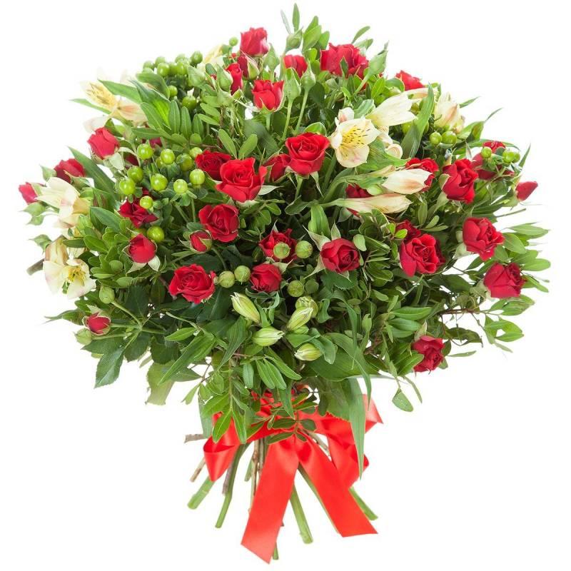 """Букет из мелкоцветных роз """"Любовное письмо"""""""