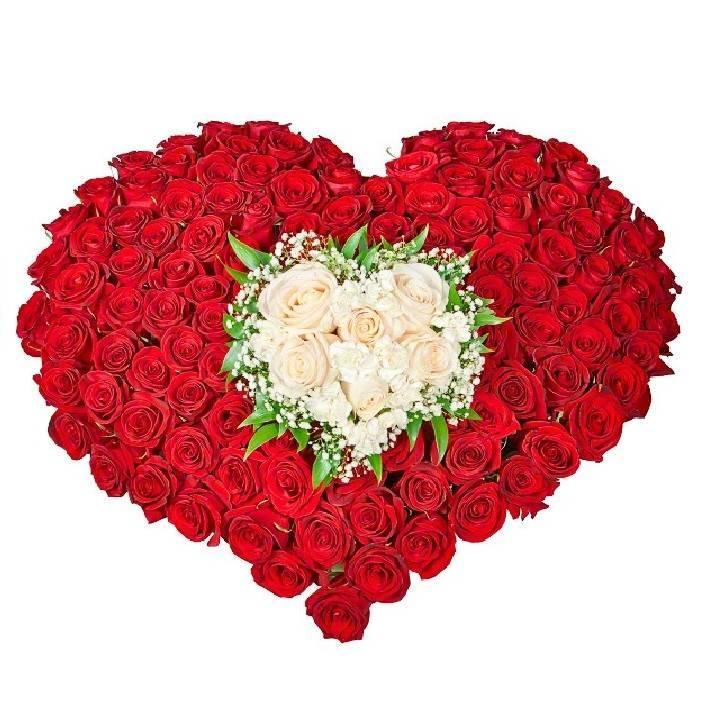 """Букет из роз в форме сердца """"Секрет любви"""""""