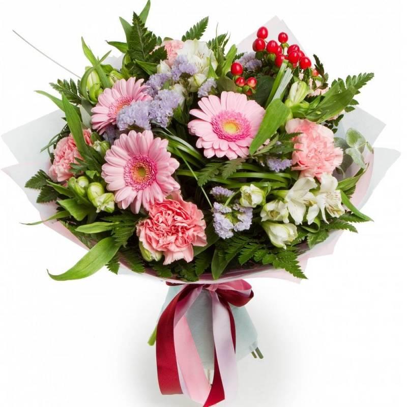 Букет цветов с герберами