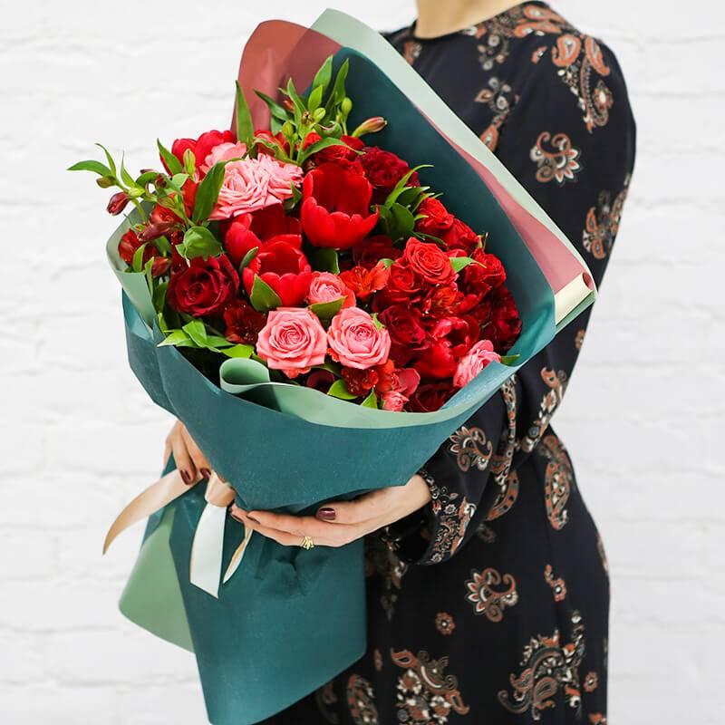 """Букет цветов """" Роковая страсть"""""""