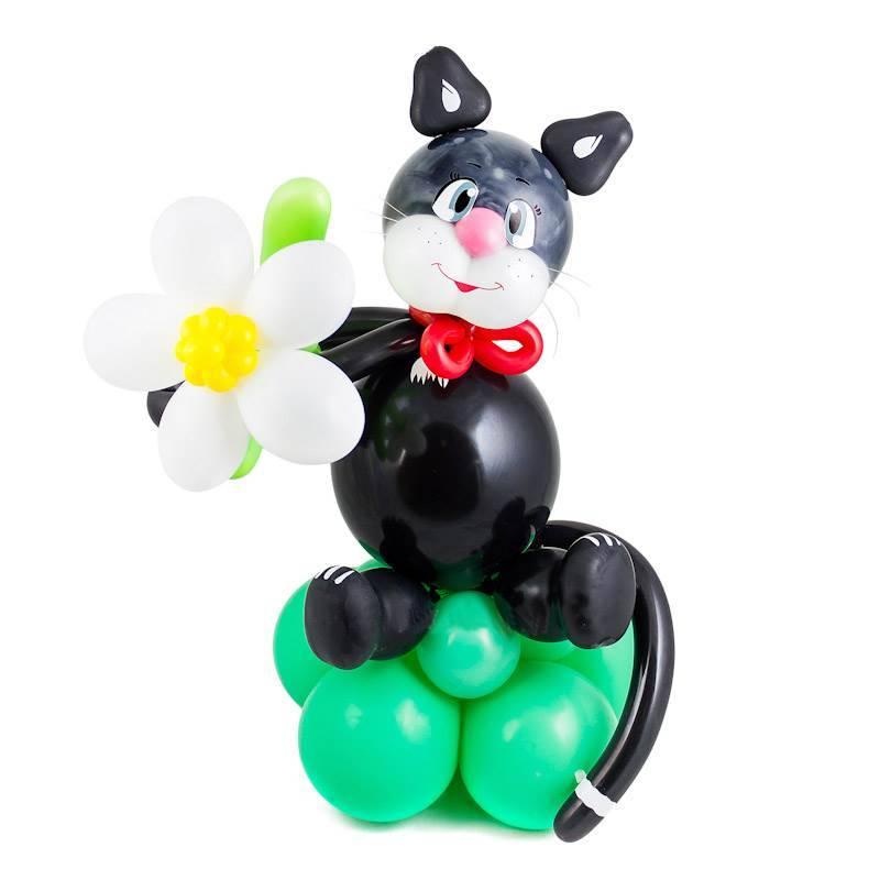 """Фигура из шаров """"Черный кот"""""""
