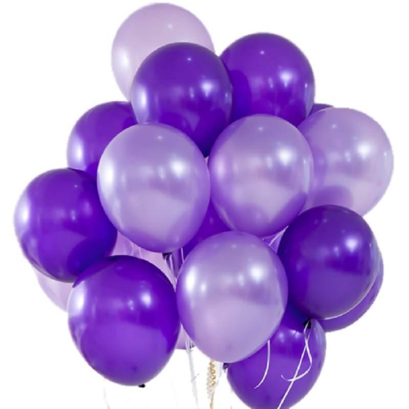 Шары без рисунка «Фиолетовые грезы»