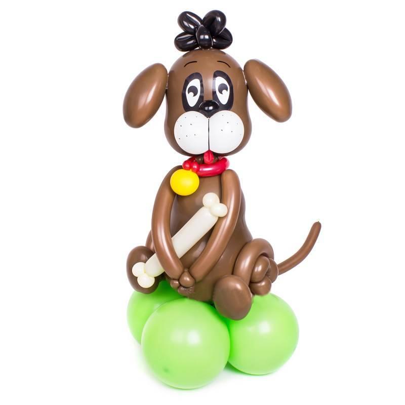 """Фигура из шаров """"Собачка с косточкой"""""""