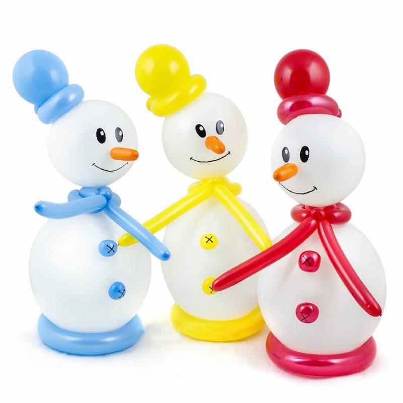 Фигура из шаров «Маленький снеговик»