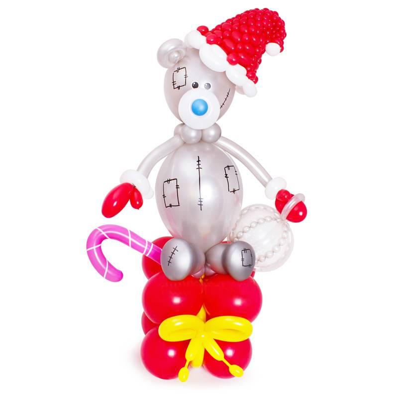 Фигура из шаров «Новогодний мишка Тедди»
