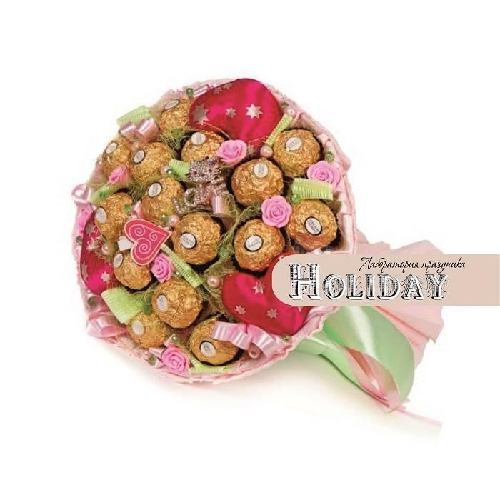 """Букет с конфетами """"С любовью"""""""