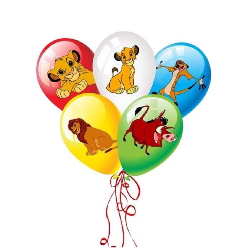 """Шар с детским рисунком """"Король лев"""""""