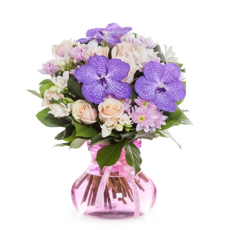 """Букет с орхидеей """"Ванда"""""""