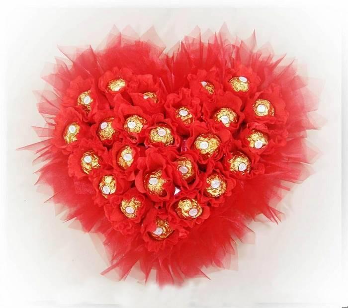 """Сердце из конфет """"Роскошь"""""""