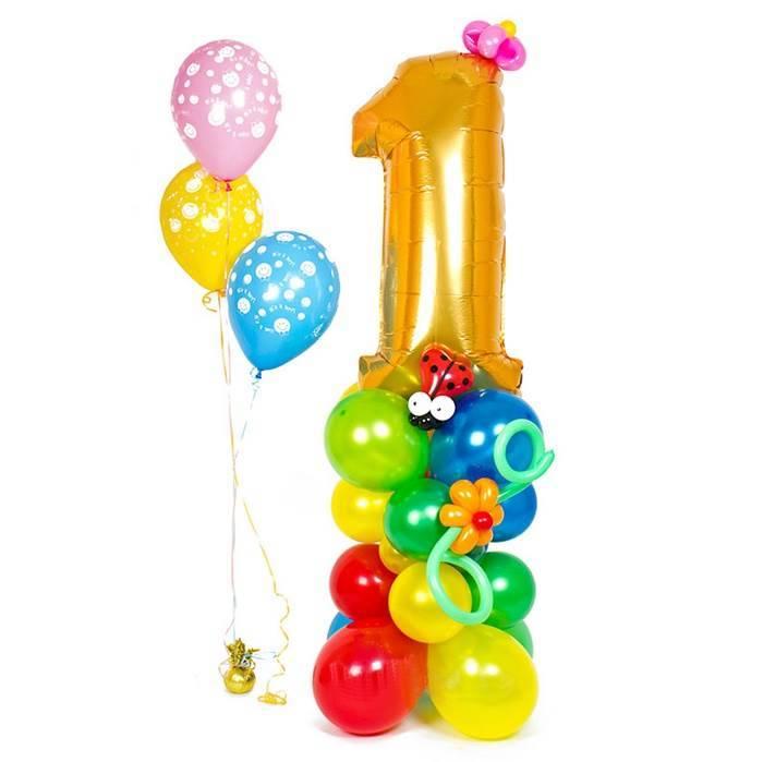 Комплект шаров для первого Дня Рождения