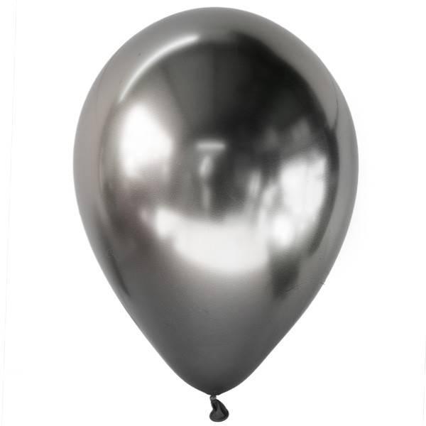 Воздушные шары серебро с гелием хромированные