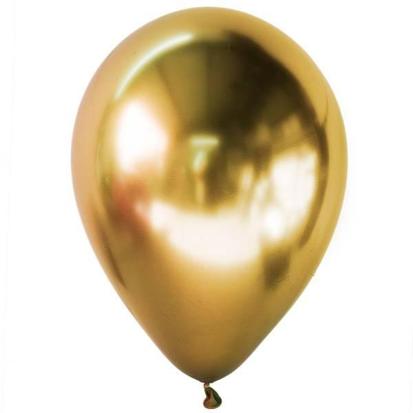 Хромированные шары золото с гелием