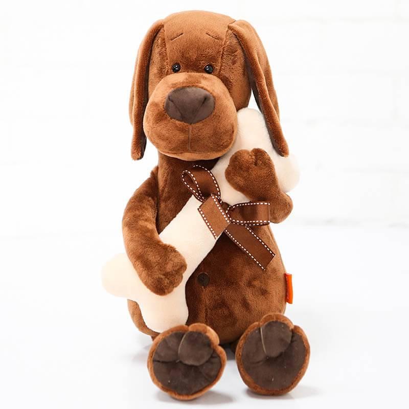 Игрушка мягкая Оранж Пес Барбоська с косточкой в коробке