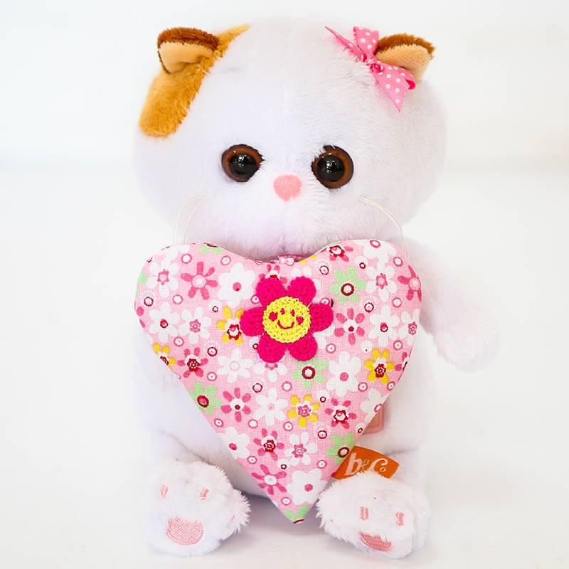Мягкая игрушка BudiBasa «Кошечка Ли-Ли BABY с  розовым сердцем»