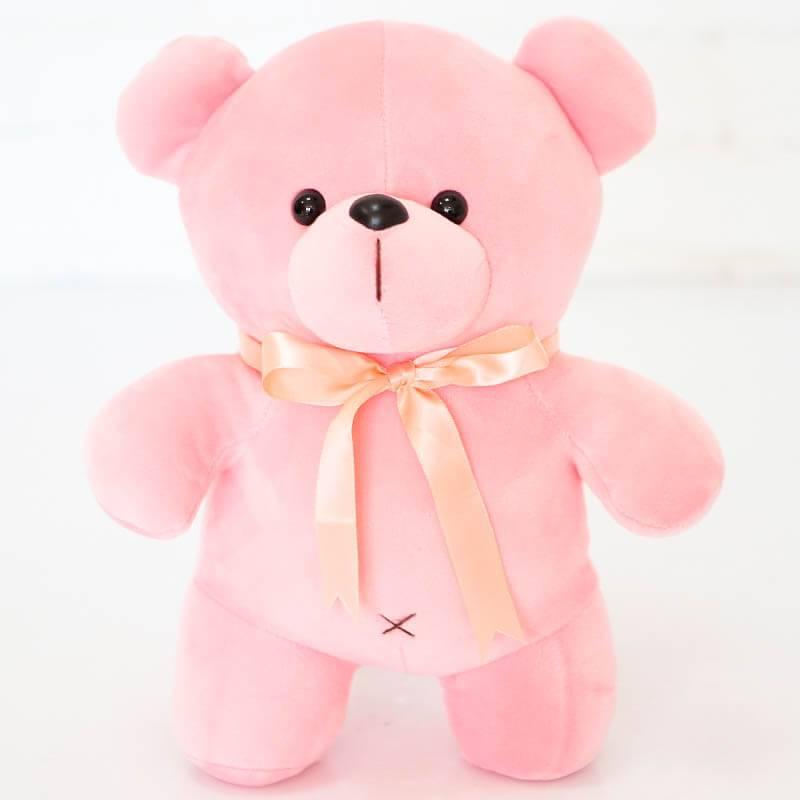Мишка антистрес розовый