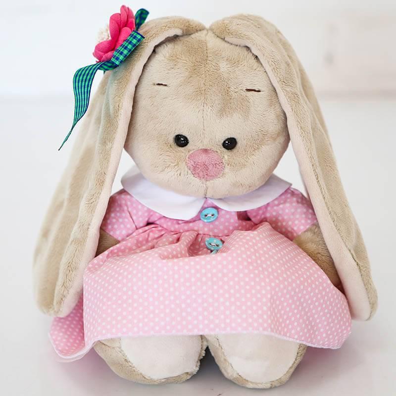 Мягкая игрушка Зайка Ми в розовом платье