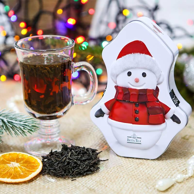 """Чай в подарочной упаковке """"Снеговик"""""""