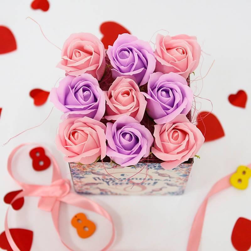 """Букет из мыльных роз """"8 марта"""""""