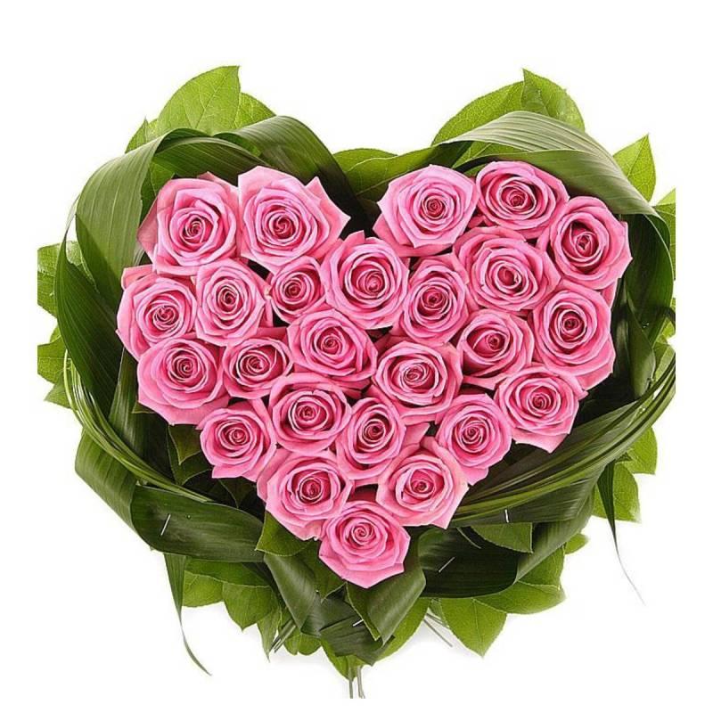 """Композиция сердце из розовых роз """"Твой навсегда"""""""