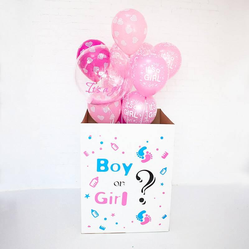 Коробка с шариками «It's a girl!»