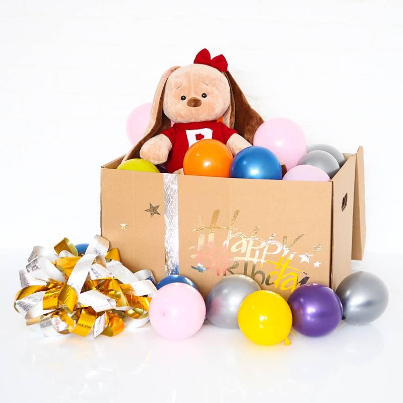 """Коробка сюрприз """"с плюшевым зайкой"""""""