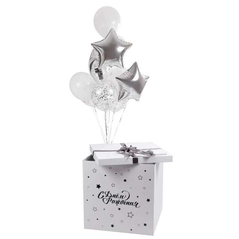 """Коробка сюрприз с шарами  """"Happy Birthday"""""""