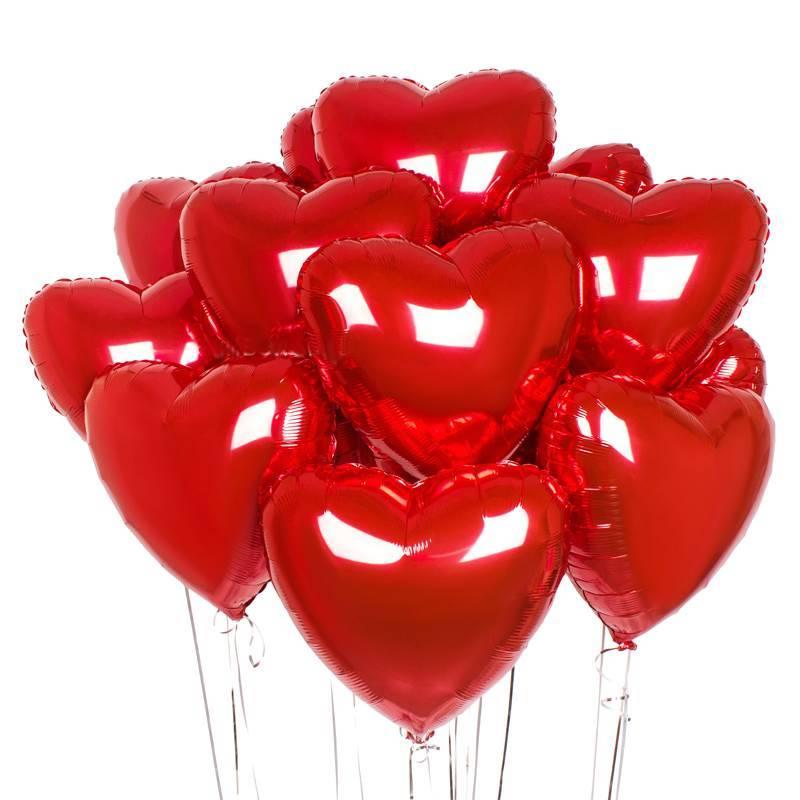 """Набор фольгированных шаров """" Красное сердце"""""""