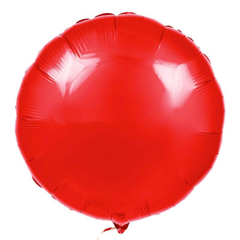 Шар из фольги «Красный круг»