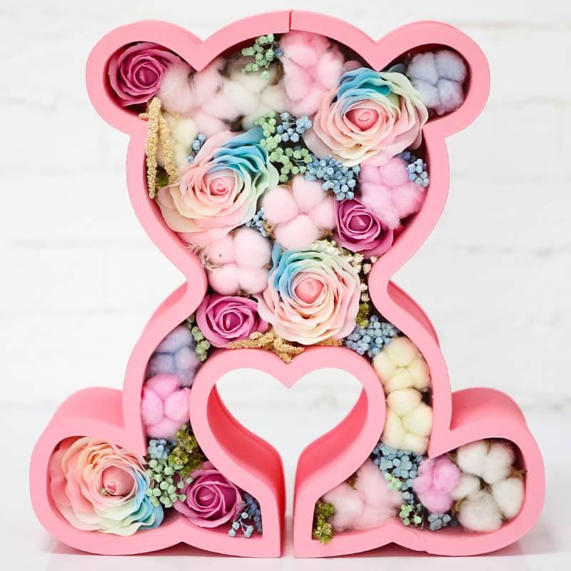 Мишка с мыльными розами