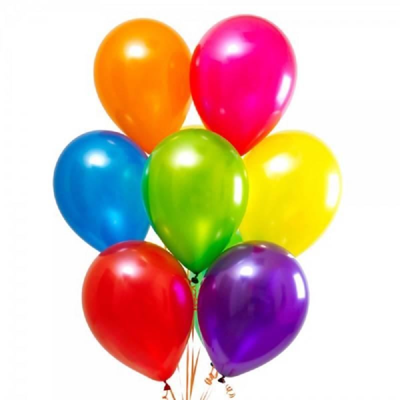 Латексные шары без рисунка «Радуга»