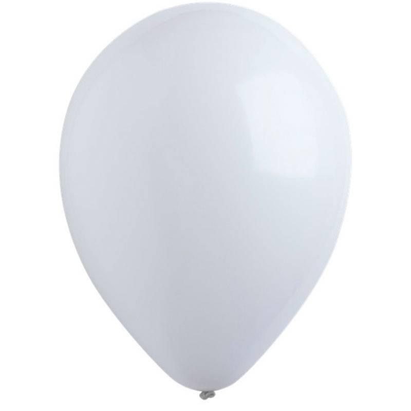 """Латексный шар с гелием """"Белый"""" матовый"""