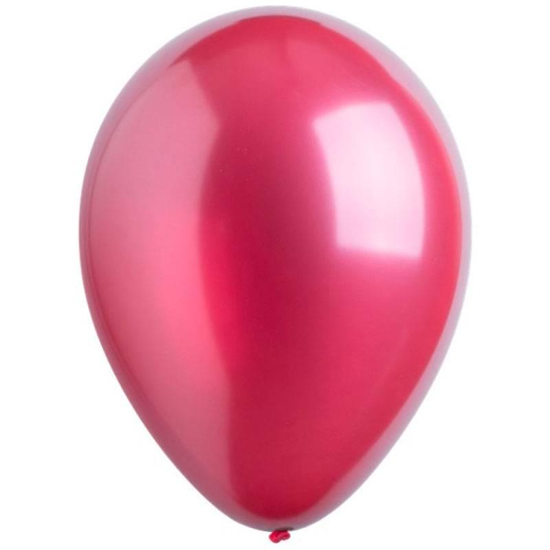 Латексный шар с гелием. Бургундия металлик