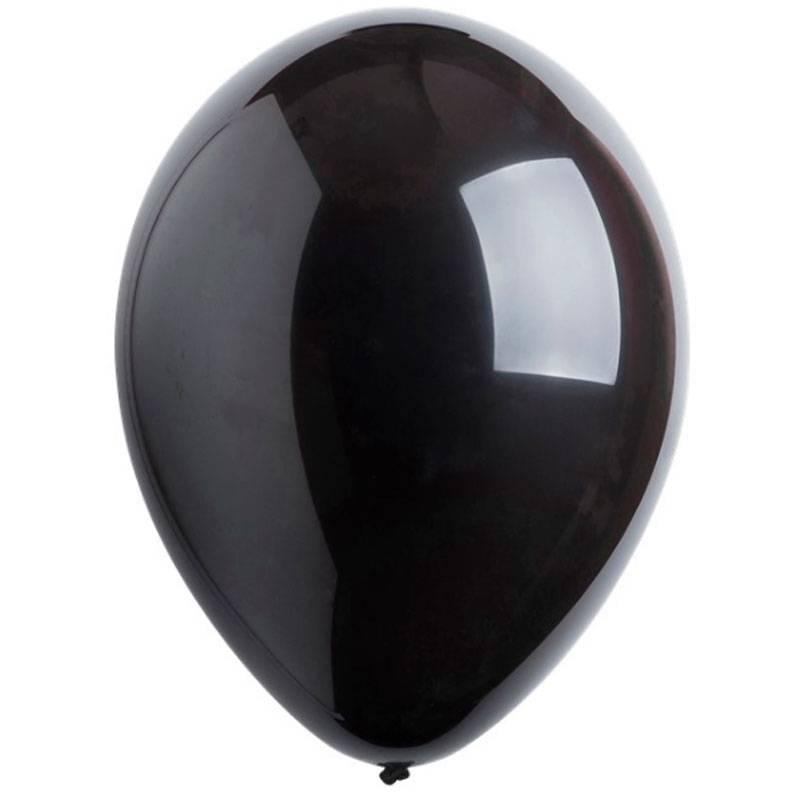 Черный латексный шар с гелием.