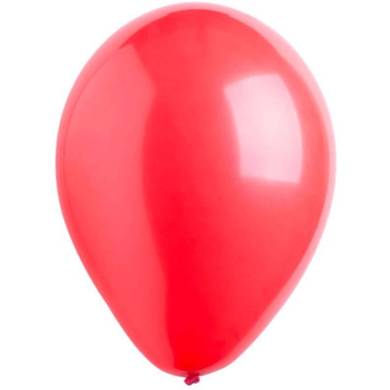 """Латексный шар с гелием """"Красный"""""""
