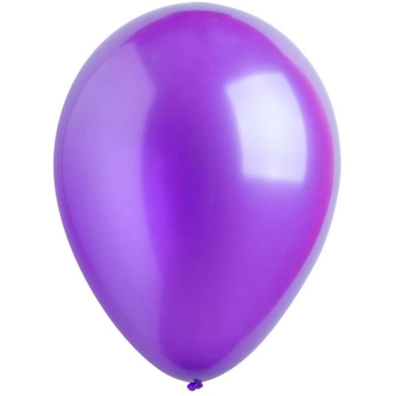 Латексный шар с гелием. Пурпурный металлик